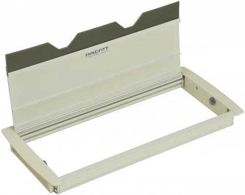 Access Flap - 300 mm with Gasket & Frosty White (Open)