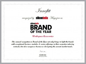Innofitts Brand of the Year Certificate