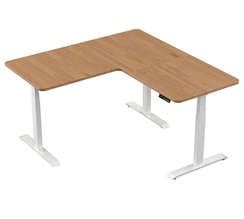 Height Adjustable Table - L Shaped - with top